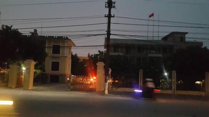 Trụ sở UBND huyện Kim Sơn, Ninh Bình bị kẻ gian đột nhập.