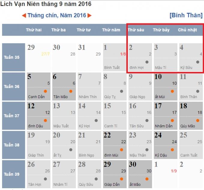 Dịp lễ 2/9/2016, người lao động được nghỉ 3 ngày.