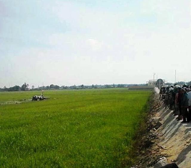 Máy bay quân sự rơi tại Phú Yên, một chiến sĩ hy sinh