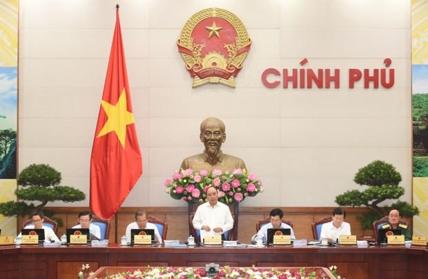 Thủ tướng Nguyễn Xuân Phúc phát biểu phiên họp Chính phủ thường kỳ tháng 9.