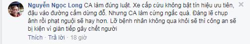 FB Nguyễn Ngọc Longbình luận.