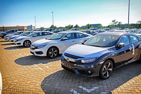 Lô xe Honda nhập khẩu từ Thái Lan về Việt Nam vào đầu tháng 3 này. Ảnh: Trần Hoàng