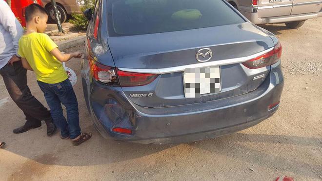 Chiếc xe bị nạn.