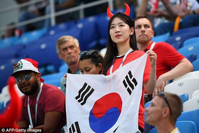 Cổ động viên Hàn Quốc rực rỡ khoe sắc tại World Cup 2018