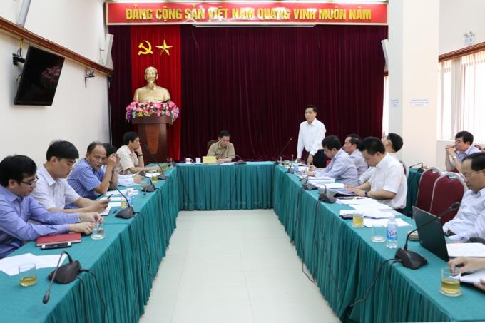 Sáng ngày 6/9, cuộc họpvề phương án sửa chữa, xử lý mặt cầu Thăng Long - Hà Nội. Ảnh: Bộ GTVT