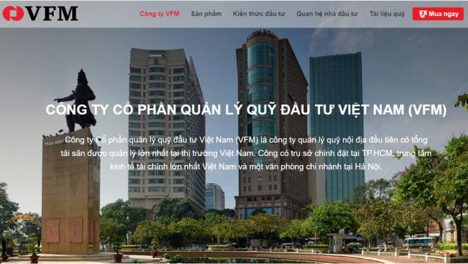 Công ty cổ phần quản lý quỹ đầu tư Việt Nam bị xử phạt hành chính. Ảnh: Chụp màn hình