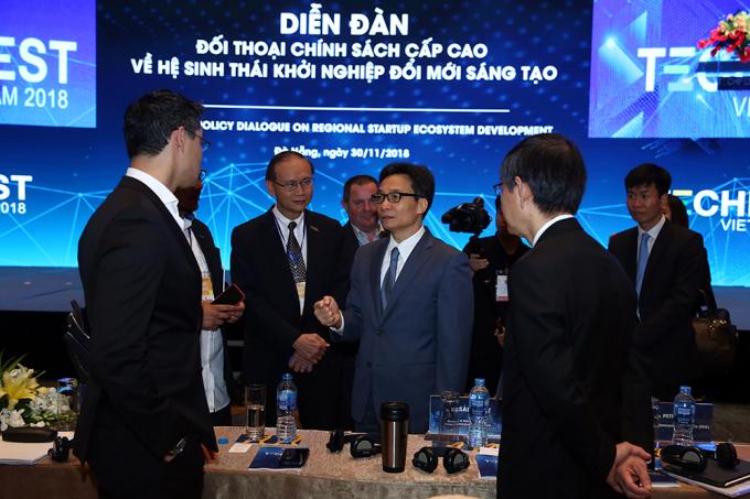 Phó Thủ tướng Vũ Đức Đam dự Diễn đàn đối thoại cấp cao về hệ sinh thái khởi nghiệp đổi mới sáng tạo