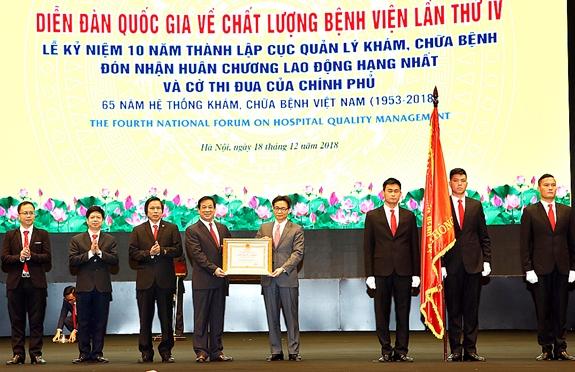 Phó Thủ tướng Vũ Đức Đam dự Diễn đàn quốc gia về chất lượng bệnh viện lần thứ IV. (Ảnh: Báo Quân đội nhân dân)