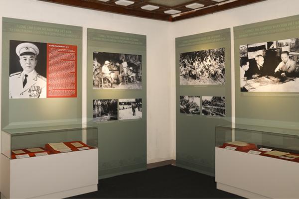 Khu vực trưng bày về Đại tướng Võ Nguyên Giáp. Ảnh: Bảo tàng Lịch sử quân sự Việt Nam