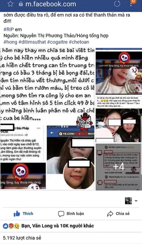 Thông tin nghi vấn cô gái trẻ bị hiếp dâm, đánh đập, tra tấn đến chết đang gây xôn xao cộng đồng mạng.