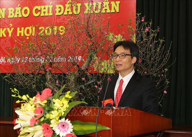 Phó Thủ tướng Vũ Đức Đam phát biểu. Ảnh: Dương Giang/TTXVN