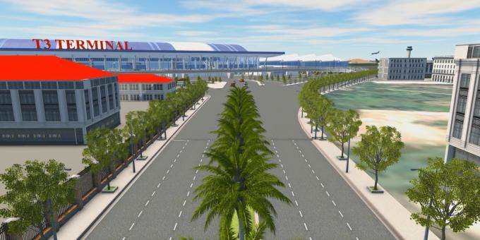 Ảnh phối cảnh dự án mở rộng sân bay Tân Sơn Nhất.