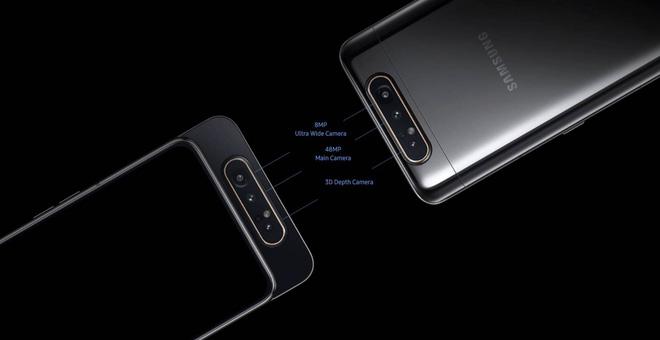 Thông tin về Samsung Galaxy A80, smartphone thiết kế xoay lật độc đáo