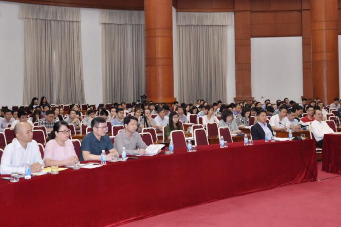 Các đại biểu tham dự Hội nghị tại điểm cầu Hà Nội. (Ảnh: Bộ Tài chính)