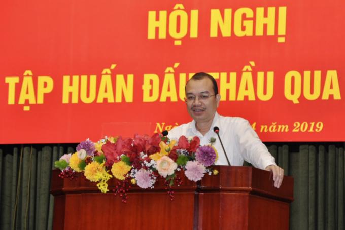 Phó Cục trưởng Cục Kế hoạch tài chính Phạm Vũ Anh phát biểu tại Hội nghị.(Ảnh: Bộ Tài chính)