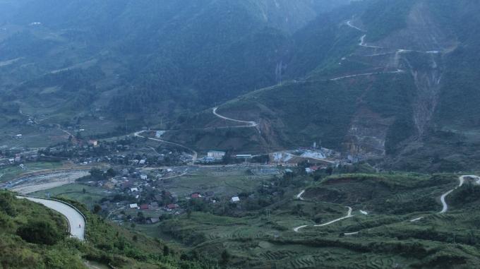 Một góc Sa Pa nhìn từ trên cao