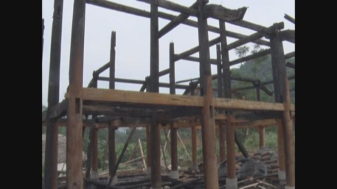Hiện trường vụ tai nạn xảy ra tại xã Vĩ Thượng (ảnh: Đức Họ).