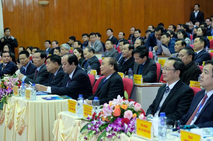 Thủ tướng Nguyễn Xuân Phúc tham dự Hội nghị xúc tiến đầu tư tỉnh Hà Giang. (ảnh: Baochinhphu.vn)