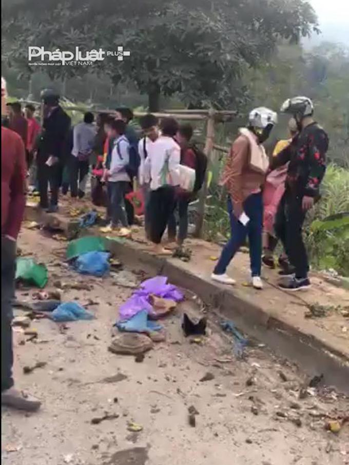 Địa đểm xảy ra vụ tai nạn.