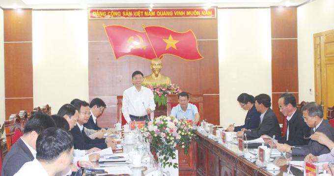 Bộ trưởng Lê Thành Long làm việc với Thường trực Tỉnh ủy Lào Cai.