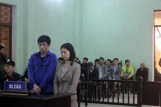 Bị cáo Hải - Thanh tại tòa.
