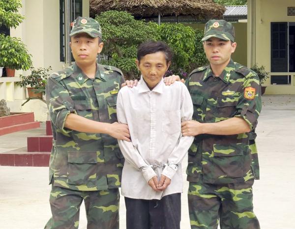 Đối tượng Khứ tại Đồn Biên phòng Trịnh Tường.