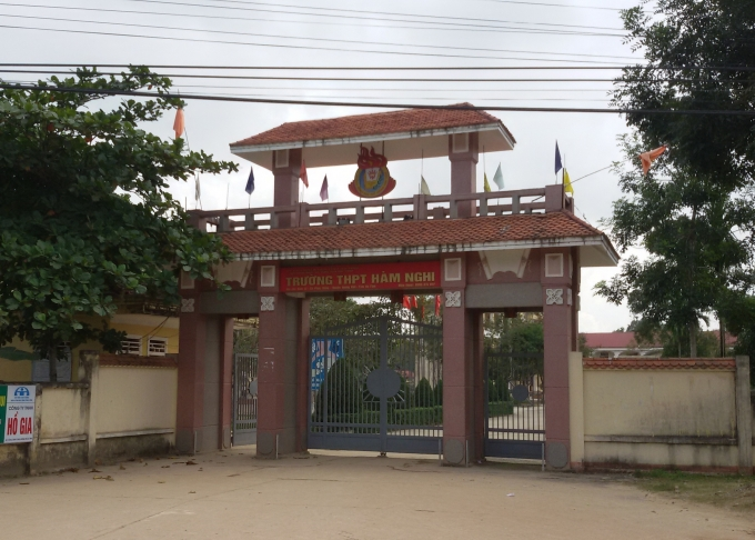 Trường THPT Hàm Nghi nơi nam sinh Lê Văn Khánh theo học