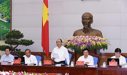 Thủ tướng Nguyễn Xuân Phúc tại phiên họp Quốc hội.