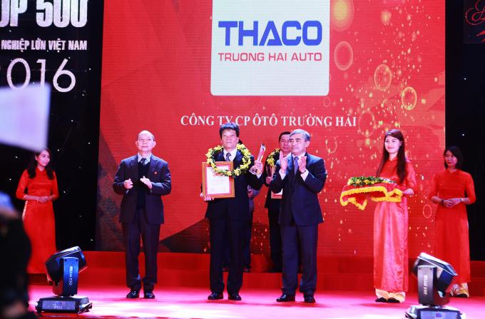 THACO nhận danh hiệu Doanh nghiệp tư nhân lớn nhất Việt Nam.