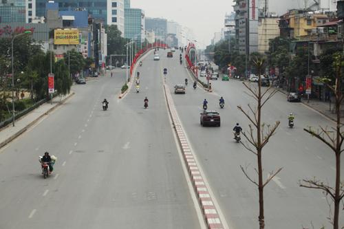 Giao thông Thủ đô thông thoáng trong những ngày Tết.