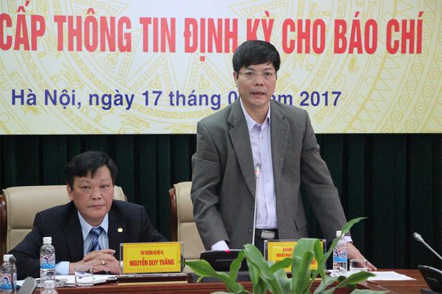 Ông Nguyễn Tiến Thành, Chánh Văn phòng Bộ Nội vụ thông tin về hiện tượng