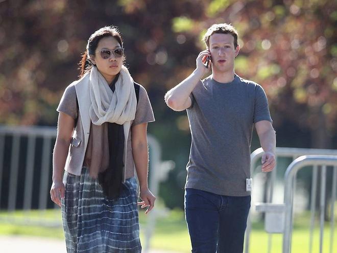 Tỷ phú Mark Zuckerberg và vợ Priscilla Chan