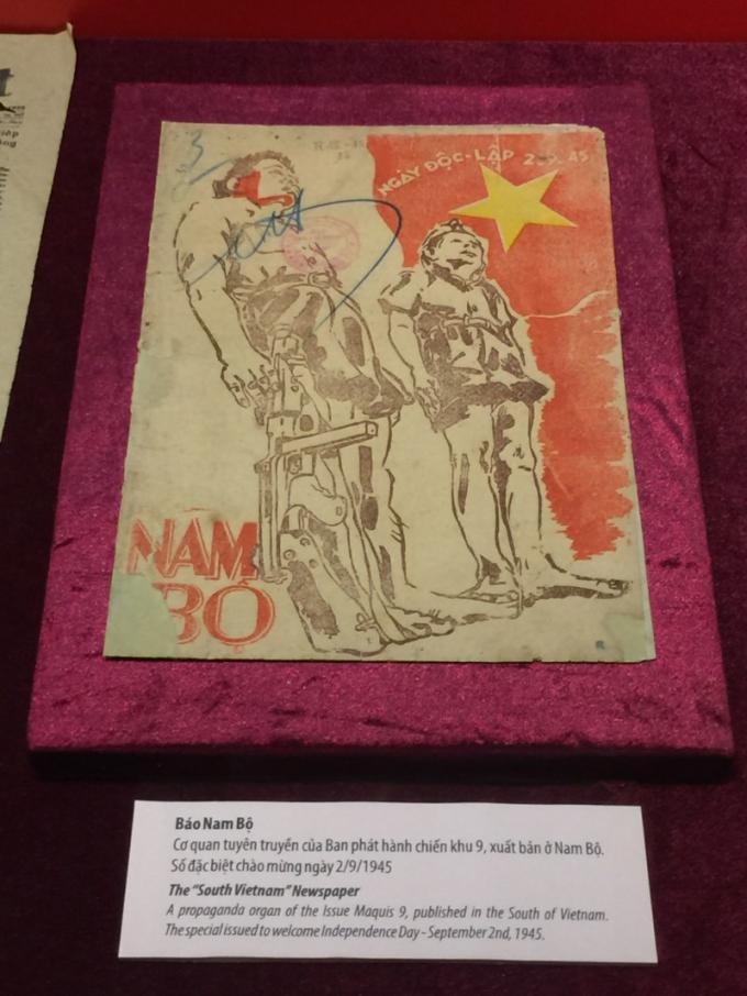 Báo Nam Bộ phát hành năm 1945.