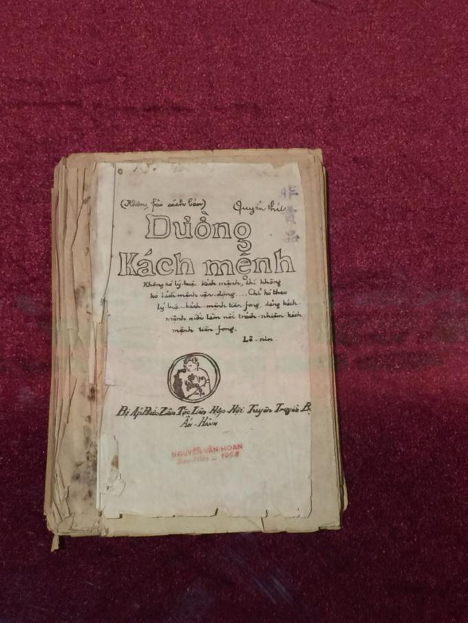 Bảo vật quốc gia - cuốnĐường Kách mệnhbản gốc duy nhất còn lại đến nay được Bảo tàng Lịch sử quốc gia trưng bày từ nay đến 10-12.