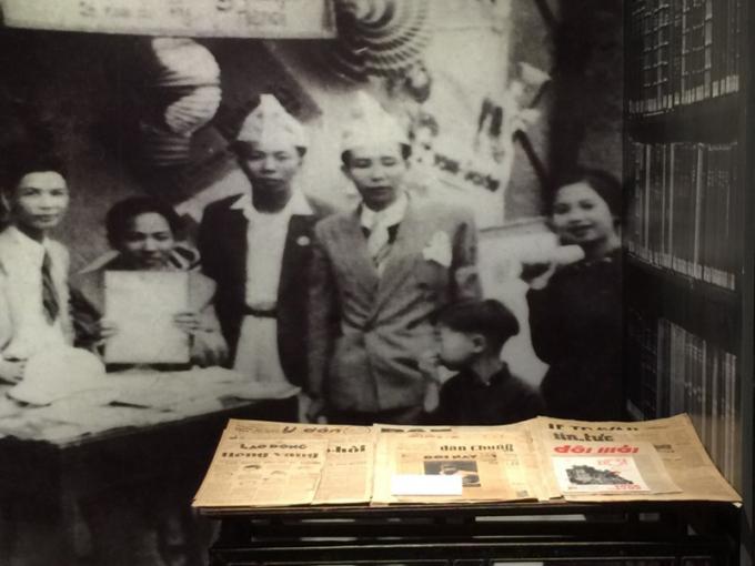 Nhiều tờ báo được xuất bản vào thời điểm từ năm 1945 trở đi cũng được giới thiệu tại triển lãm.