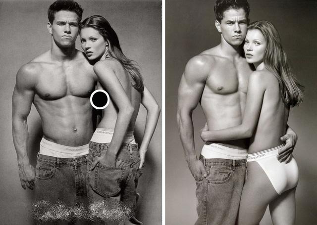 Siêu mẫu Kate Moss gợi nhớ bộ ảnh ngực trần gây tranh cãi