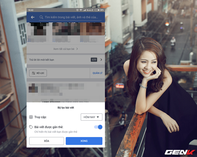 """Với lựa chọn """"Bài viết được gắn thẻ"""", bạn có thể điều chỉnh cho Facebook chỉ hiển thị các bài viết gắn thẻ từ bạn bè đăng trên tường nhà bạn"""