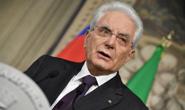 Tổng thống Italia Sergio Mattarella.