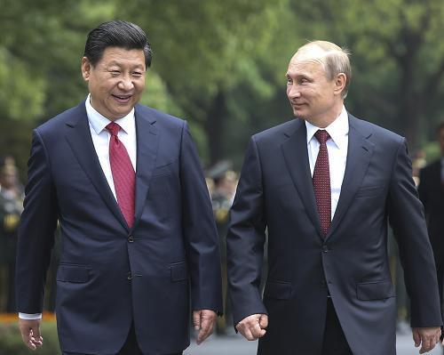 Tổng thống Putin và Chủ tịch Tập Cận Bình (Ảnh: CICA)