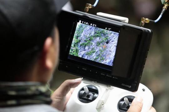 UAV cũng được sử dụng để tìm kiếm người mất tích. Ảnh: Bangkok Post