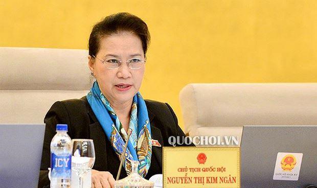 Chủ tịch Quốc hội Nguyễn Thị Kim Ngân chủ trì nội dung phiên họp.