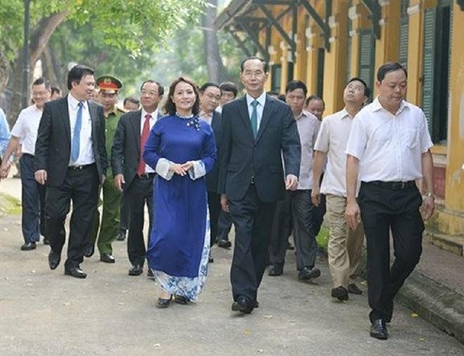 Ngôi trường cuối cùng cố Chủ tịch nước Trần Đại Quang đánh trống khai giảng