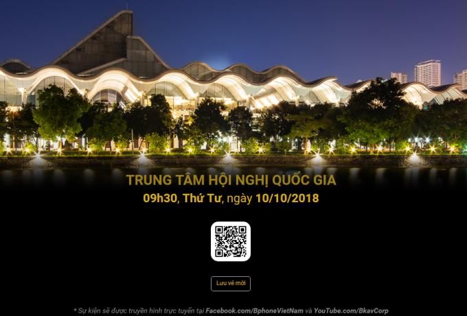 Lễ ra mắt chính thức được xác định là 9h30 sáng ngày 10/10/2018 tại Trung tâm Hội nghị Quốc gia.