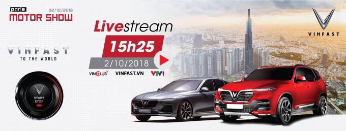 Đúng 15h25 chiều nay, Livestream buổi ra mắt 2 mẫu xe mới sẽ bắt đầu.