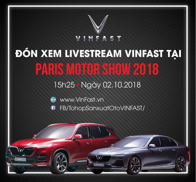 Sự kiện ra mắt 2 mẫu xe đầu tiên của Việt Nam tạiParis Motor Show 2018.