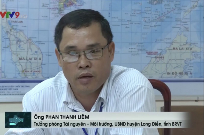 Ông Phan Thanh Liêm – Trưởng phòng Tài nguyên môi trường của huyện Long Điền cũng thừa nhận mảnh đất đó do người dân canh tác khai hoang mà thành, trong quá trình canh tác có xây dựng chòi là điều bình thường.