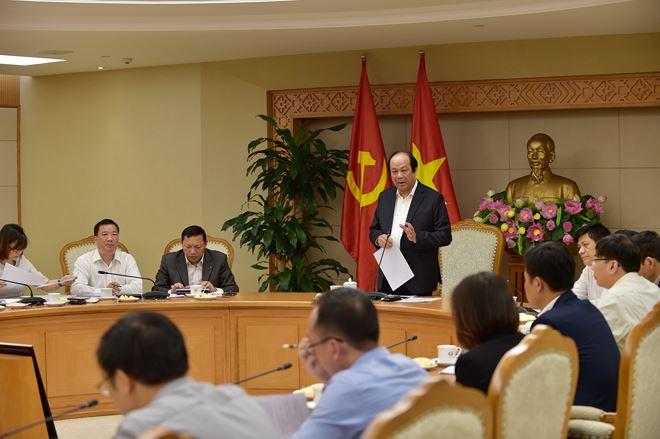 Bộ trưởng - Chủ nhiệm VPCP Mai Tiến Dũng phát biểu tại buổi làm việc.