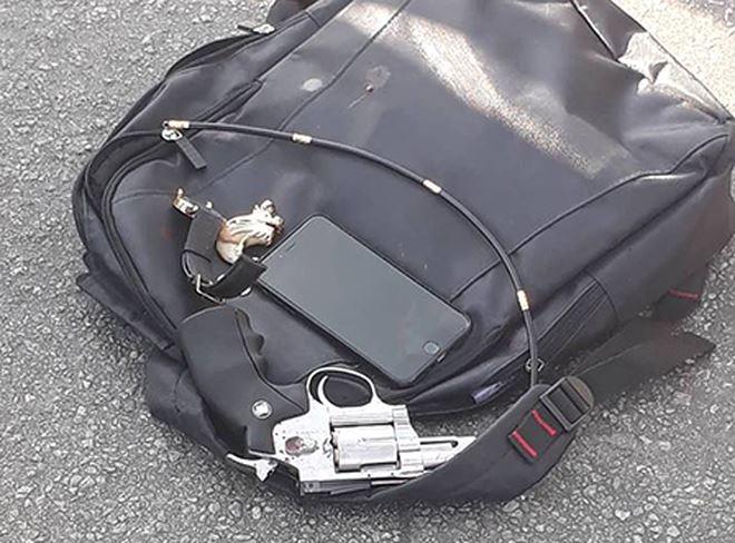 Khẩu súng thu giữ tại hiện trường (ảnh: Facebook X.U.Quang)