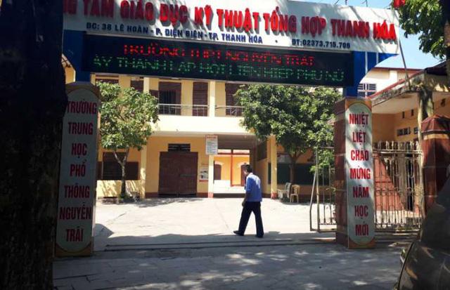 Trường THPT Nguyễn Trãi, thành phố Thanh Hóa.