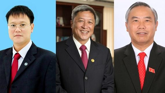 3 tân Thứ trưởng - Ông Lê Hải An, Nguyễn Trường Sơn, Phùng Đức Tiến (từ trái qua).